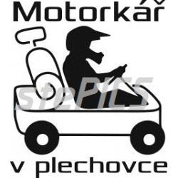 Motorkář v plechovce -motocrocss - sardinky