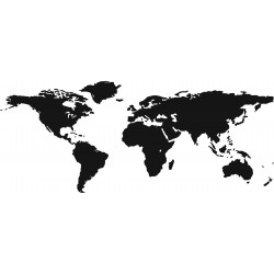 WORLD map na kufry