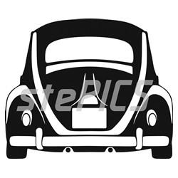 Volkswagen Brouk 1957 back